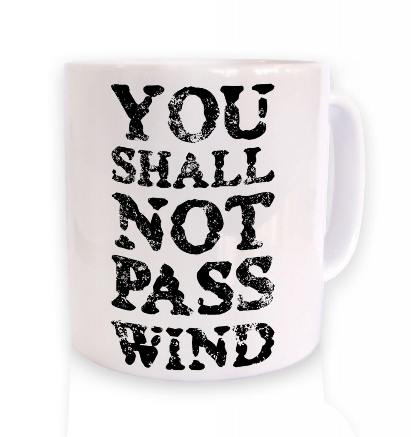 you shall not pass wind mug