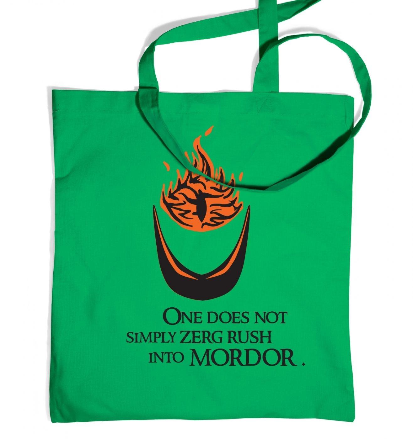 Zerg Rush into Mordor tote bag