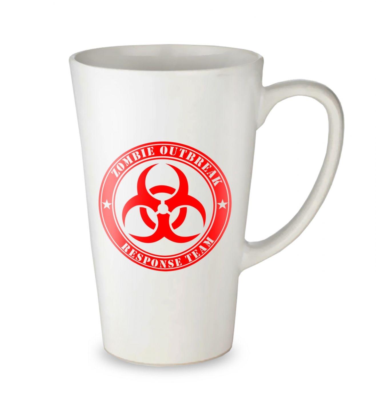 Zombie Outbreak Response Team tall latte mug
