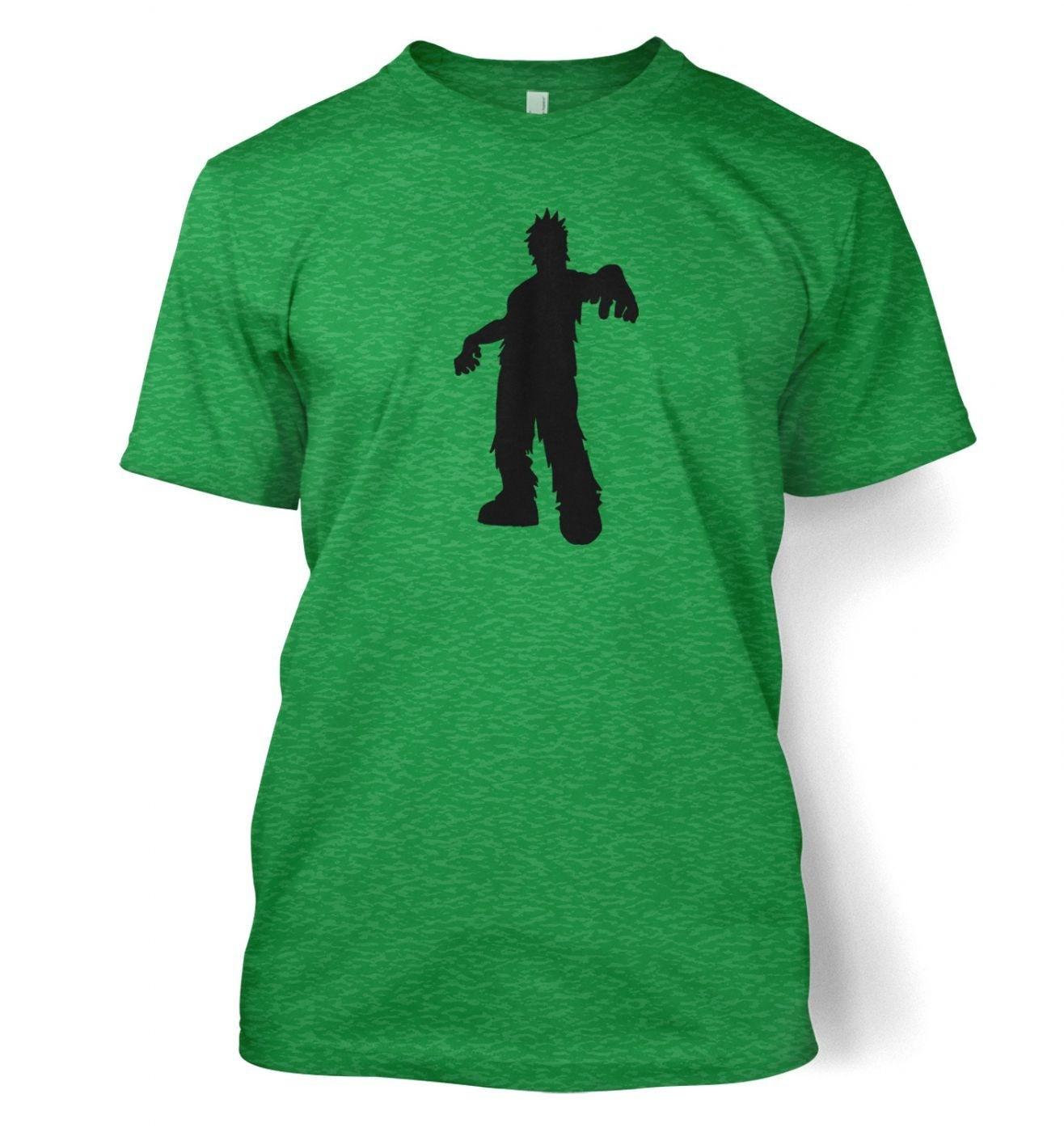 Zombie Silhouette men's t-shirt