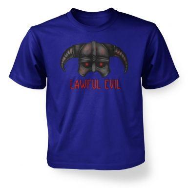Lawful Evil  kids t-shirt