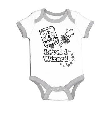 Level 1 Wizard baby grow