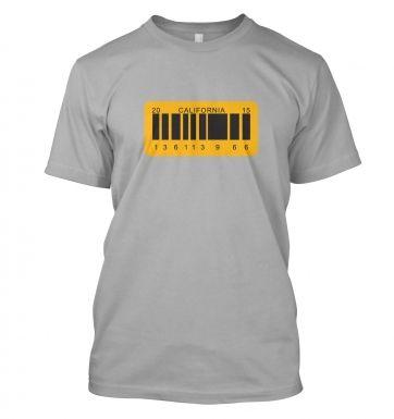 License Plate  t-shirt