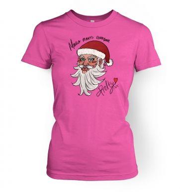 Manga Santa  womens t-shirt