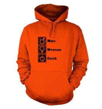 Man Woman Geek hoodie