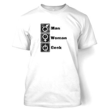 Man Woman Geek t-shirt