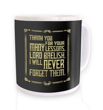 Many Lessons mug
