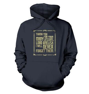 Many Lessons premium hoodie