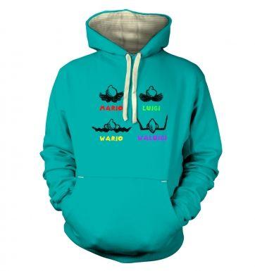 Mario Moustaches  hoodie (premium)