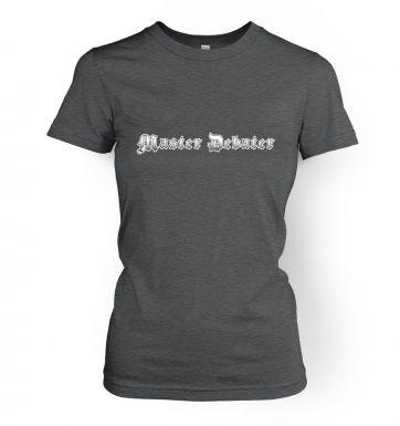 Master Debater women's t-shirt