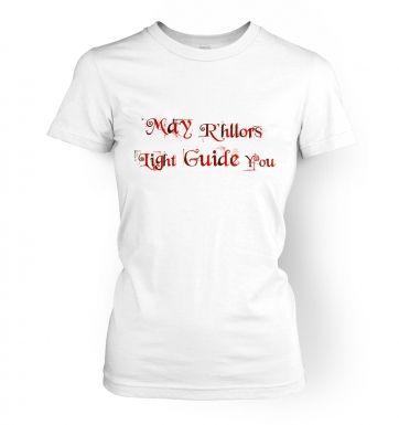 May R'hllors Light Guide You women's t-shirt
