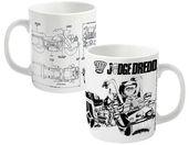 2000AD Judge Dredd Bike Schematics mug - Official