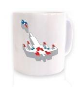 3D Retro Spaceship  mug