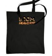 Boom Headshot tote bag