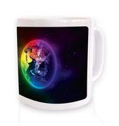 Colourful Planet Earth mug