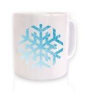 Distressed Snowflake Christmas mug