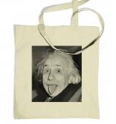 Einstein Tongue tote bag