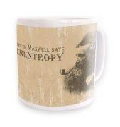 Elementropy Sherlock Holmes James Clerk Maxwell mug