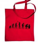 Evolution of a geeky man (black detail) tote bag