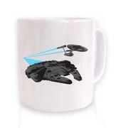 Falcon vs Enterprise mug