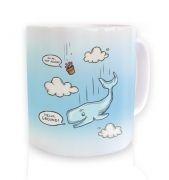 Falling Whale  mug