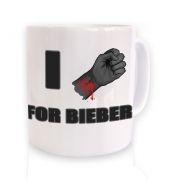 Fist I Cut For Bieber mug