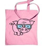 Geek Pig tote bag