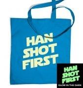 Han Shot First (glow in the dark) tote bag