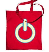 Glow In The Dark Power Symbol tote bag