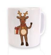Happy Reindeer Sketch Christmas mug