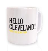 Hello Cleveland mug