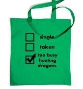 Hunting Dragons: Relationship Status tote bag