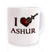 I Heart Ashur mug