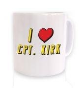 I heart Captain Kirk mug