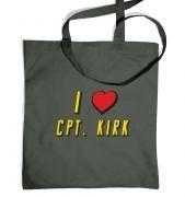 I heart Captain Kirk tote bag