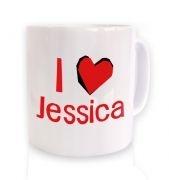 I heart Jessica mug