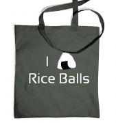 I Love Rice Balls! Japanese tote bag