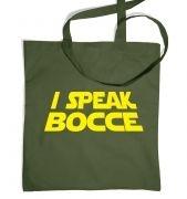 I Speak Bocce tote bag