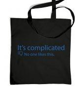 Its Complicated Social Status tote bag