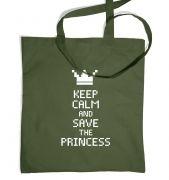 Keep Calm And Save The Princess tote bag