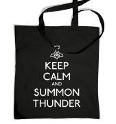 Keep Calm and Summon Thunder  tote bag