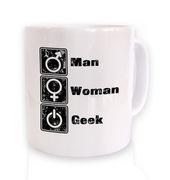 Man Woman Geek mug