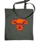 Orange Demons Head tote bag