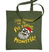 Pie Monster tote bag