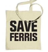 Save Ferris (Black) tote bag