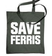 Save Ferris (White) tote bag