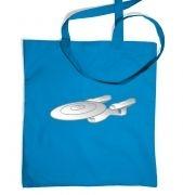 Silver Starship Enterprise tote bag