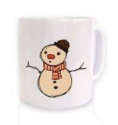 Small Snowman Sketch Christmas mug