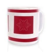Snowflake Ribbon Christmas mug