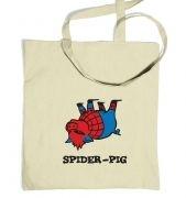 Spider Pig tote bag